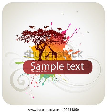 African abstract background - stock vector