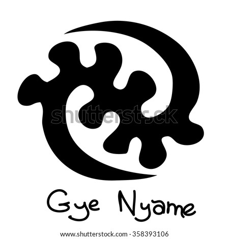 African Adinkra Symbol Gye Nyame Except Stock Vector Royalty Free