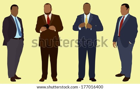 African American Business Men - stock vector