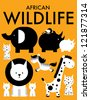 african animals/wildlife vector/illustration - stock