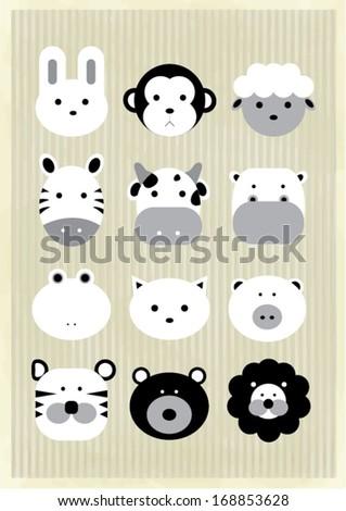 african animals/wildlife vector/illustration - stock vector