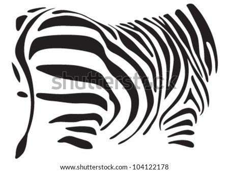 african burchell pattern on white back - stock vector