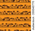 African ethnic seamless pattern in flat style. - stock vector