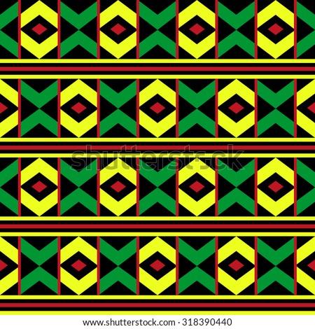 Seamless African Pattern Stock Vector 96611776 Shutterstock