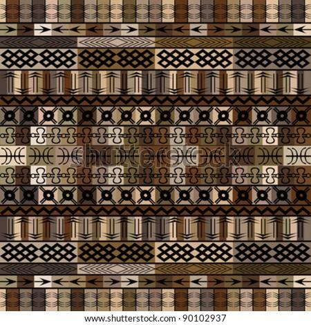 African motifs in brown tones - stock vector