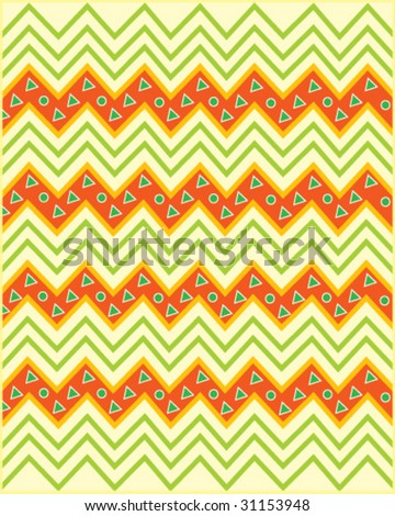 African pattern 1. Look  through my portfolio to find more images of the same series - stock vector