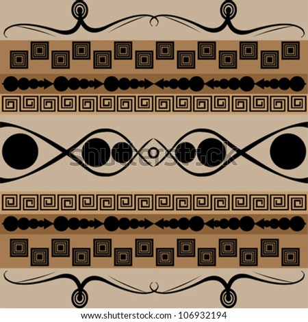 African pattern texture - stock vector