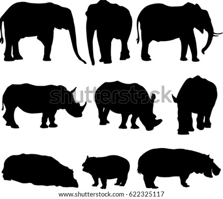 Hippo coloring pages of all kinds amazon ~ Hippo Silhouette Stock Images, Royalty-Free Images ...