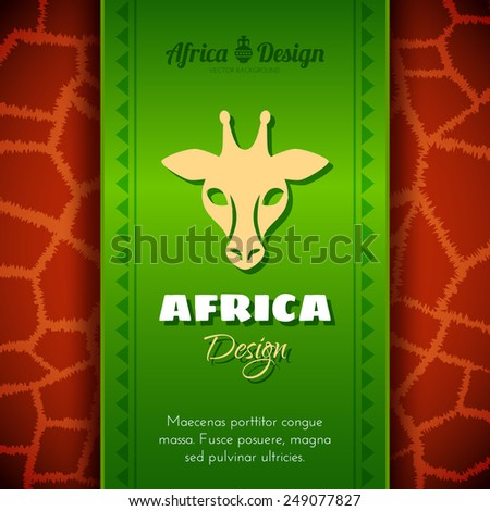 African Tribal Ethnic Art Background. Giraffe skin. Vector design