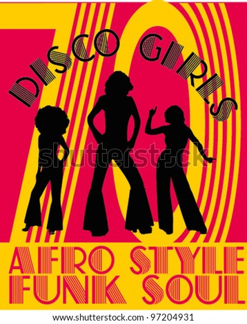 afro funk soul - stock vector