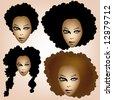 afro girl - stock