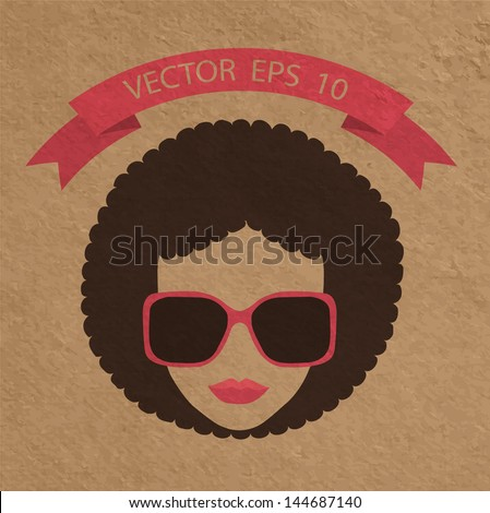 Afro Woman Drawing Afro Woman With Glasses in