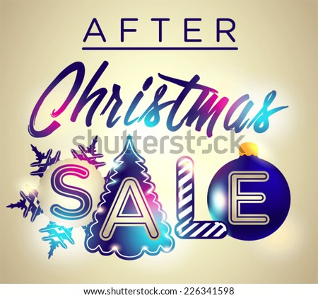 After Christmas sale. - stock vector