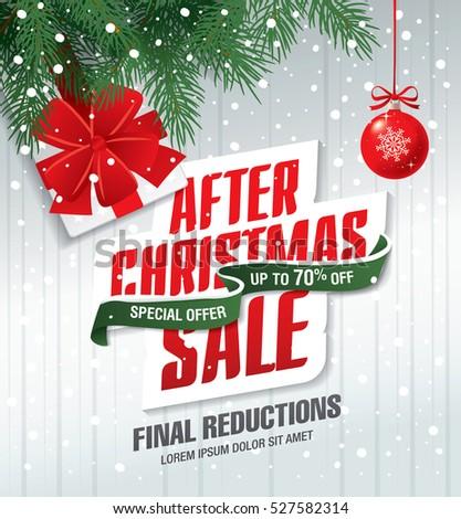 christmas sale flyer