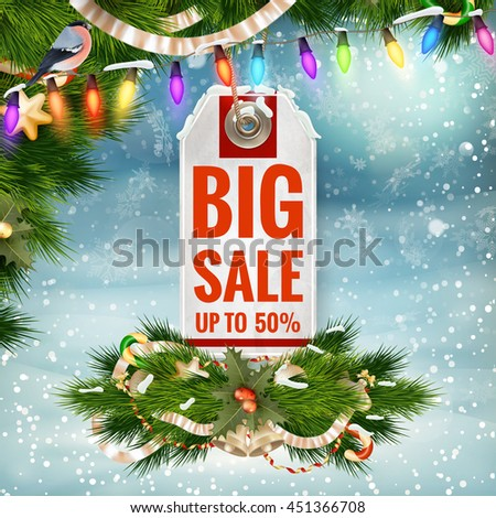 After Christmas Sale. EPS 10 vector file included - stock vector