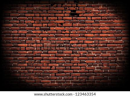 aged brick wall texture; illustration - stock vector