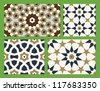 Agra Seamless Patterns Set Two - stock vector