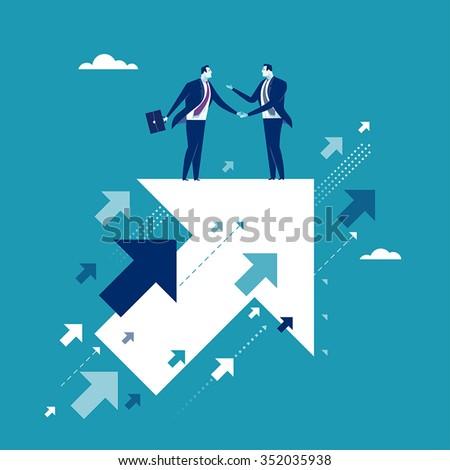 Agreement. Business illustration - stock vector