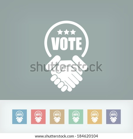 Agreement for votes - stock vector