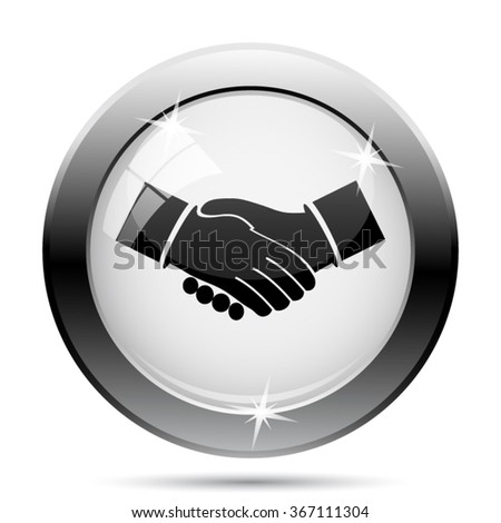 Agreement icon. Internet button on white background. EPS10 vector.