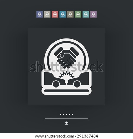 Agreement on road accident - stock vector