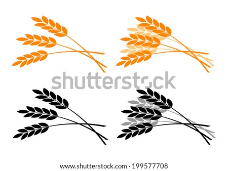 Agricultural icons on white background   - stock vector