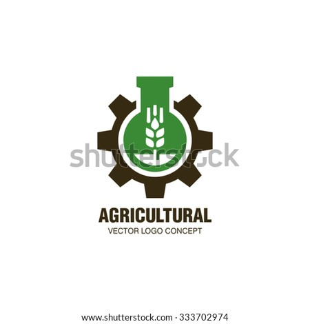 Agricultural Industrial Vector Logo - stock vector
