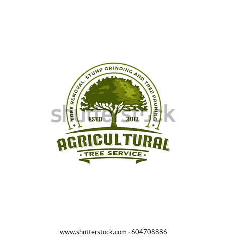 Agricultural Tree Vintage Logo Badge