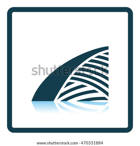 Agriculture field icon. Shadow reflection design. Vector illustration.