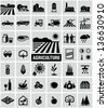 Agriculture icons - stock photo