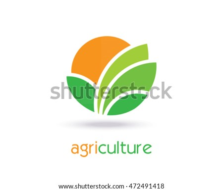 Agriculture Logo Template Design. Icon, Sign or Symbol. farm, nature, ecology. Vector flat design