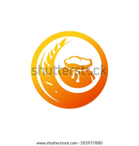 Agriculture sign Branding Identity Corporate vector logo design template Isolated on a white background - stock vector