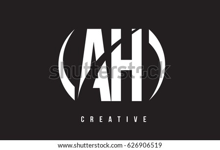Ah h white letter logo design stock vector 626906519 shutterstock ah a h white letter logo design with white background vector illustration template altavistaventures Image collections