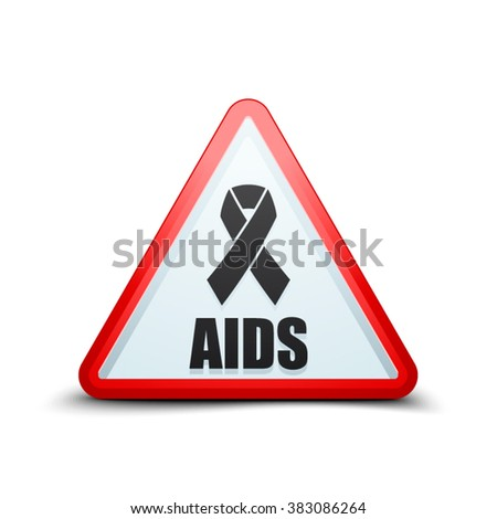AIDS alert triangle sign - stock vector