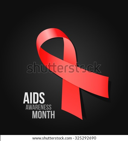 AIDS Awareness Month - vector illustration - stock vector
