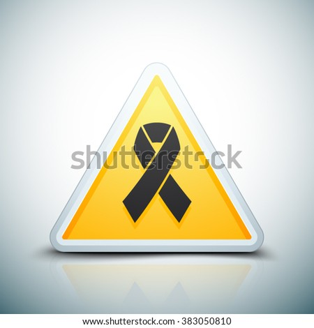 AIDS HIV triangle sign - stock vector