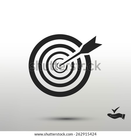aim icon - stock vector