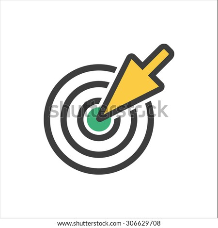 Aim icon  on white background. Vector illustration.