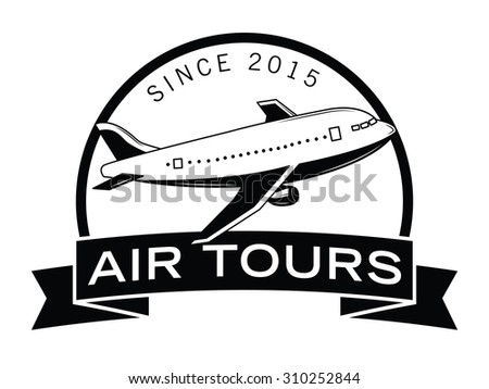 Air adventures label badge - stock vector