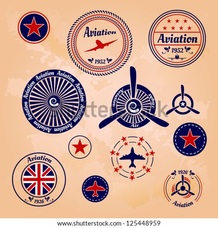air badges and labels