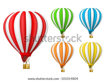 air balloon - stock vector
