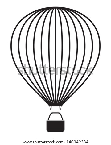 air balloon isolated on white - stock vector