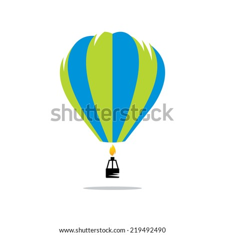 Air balloon sign Branding Identity Corporate vector logo design template Isolated on a white background - stock vector