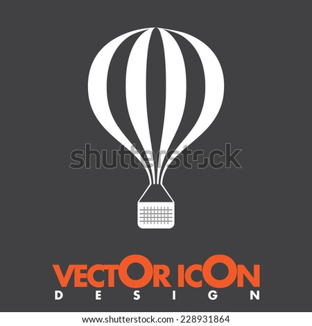 hot air balloon vector thin line stock vector 591309080 shutterstock. Black Bedroom Furniture Sets. Home Design Ideas