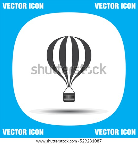 Air balloon vector icon. Travel sign.