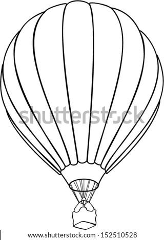 air balloone outline - stock vector