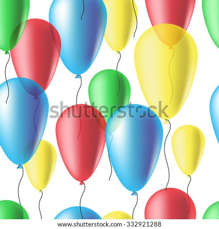 Air Balloons. Seamless Texture. Background image on websites, e-mails.