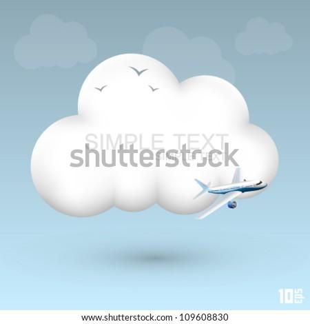 air cloud vector - stock vector