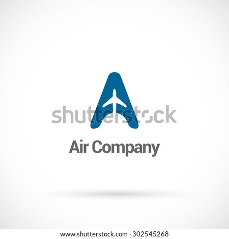 Air company  logo design vector template. - stock vector