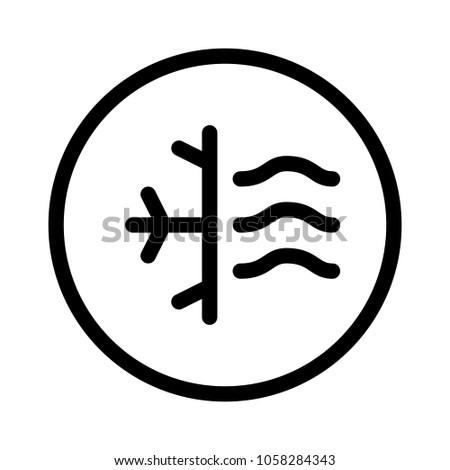 Air Condition Symbol Stock Vector Hd Royalty Free 1058284343